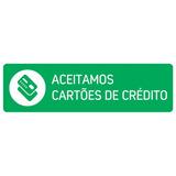 Placa - Aceitamos Cartões De Crédito (com Dupla Face)