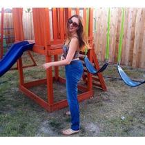 Jeans Rectos Corte Alto Talla 27