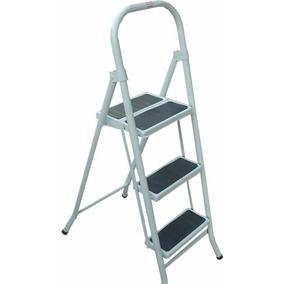 escalera metalica plegable escalones banquetano aluminio