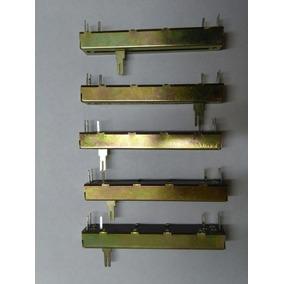 Lote De 5 Potenciometros Fader Deslizables A50 Kx2 60mm