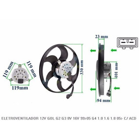 Ventoinha Radiador Gol 12v G2 G3 G4 Com Ar Condicionado