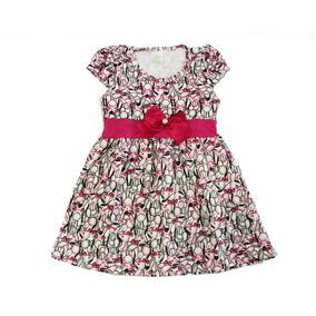 Roupa Infantil Vestido Rodado Bebê Menina Com Laço Promoção