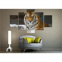 Cuadro Animales Salvajes Felinos Tigre Leopardo León Jaguar