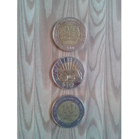 3 Moedas Uruguai 10 Pesos 2015 - 2000 L53
