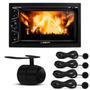 Dvd Toca Cd Carro Mp3 Usb Radio + Camera Re + Sensor Estacio