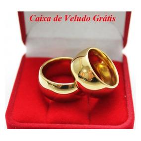 Alianças Tungsténio 12mm Casamento Banhada Ouro 24k Promoção