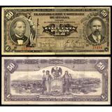 Billete 50 Pesos Estado Libre Y Soberano De Sinaloa 1915