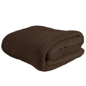 Cobertor Manta Microfibra Casal Queen Tabaco - Linha Avulsa
