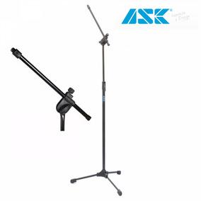 Pedestal Suporte Microfone Profissional + Cachimbo Ask Tps