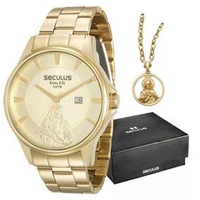 7f40ff41e08 Relogio Dourado Masculino Seculot - Relógios De Pulso no Mercado ...
