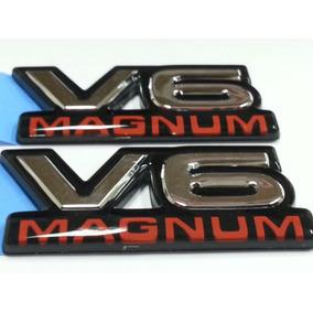 Emblema V6 Magnum Original Logo Dodge Dakota Durango Lateral