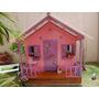 Casa (casinha) De Crianças / Bonecas Fabricada Em Madeira!
