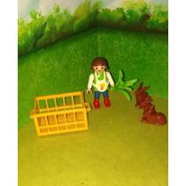 Playmobil Set 4529 Special Niña Con Conejos Granja Campo B