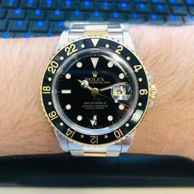 c646c95cf96 Rolex Gmt-master Ii Aço Ouro Ref 16713 100% Impecável. R  27.000