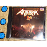 Cd Imp Anthrax - Live Island (1994) C/ Belladonna