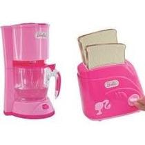Kit Mini Utilidades Barbie Torradeira E Cafeteira