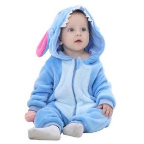 Macacão Bebê Stitch Fantasia Kigurumi Disney Bichinhos
