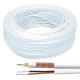 Cable Coaxil + Corriente Rg59 Siames Rollo 100 Metros