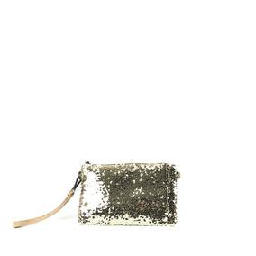 Bolsa Clutch Paetê Dourada Festa Modelo 15063d