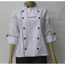 Doma De Chef Feminina Gastronomia, Cozinha Gourmet Bordado 1