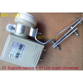 Kit Carona C/ Suporte+lnb Duplo Universal