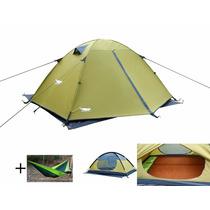Tienda De Acampar Luxe Tempo Enhanced 2 Carpas Verde