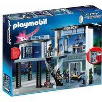 Comisaria Playmobil Con Sistema De Alarma Juguete Nene