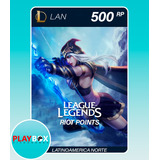 League Of Legends 500 Riot Points Latinoamerica Norte Lan