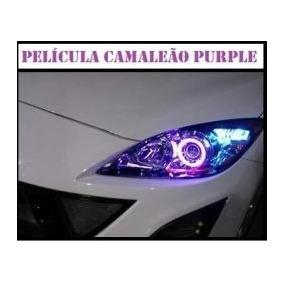 Película Adesivo Roxo P/ Lanterna Farol Carros Motos 30cmx1m