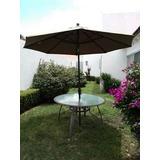 Comedor Para Exterior (mesa, Sombrilla,sillas)
