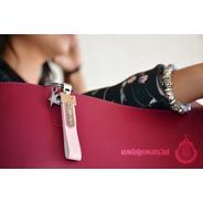 Llavero Oficial Chivas Metálico Piel Metal 3d Rosa