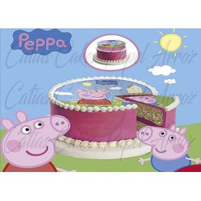 Peppa Pig Papel Arroz Para Bolo A4