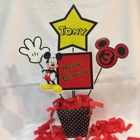 Centro De Mesa Mickey Personajes Infantiles Personalizado