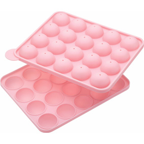 Molde Silicon Para Paletas Cake Pop Con Palitos 20 Circulos