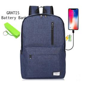 Mochila Usb Impermeable +battery Bank Regalo