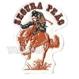 Bordado Patch Termocolante Segura Peao Cavalo Ad30096