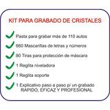 Kit Para Grabar Cristales + 110 Autos