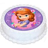 Princesa Sofia Papel Arroz Redondo 20 Cm Bolo