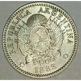 Moneda Argentina 10 Centavos De Patacon Año 1883 Plata