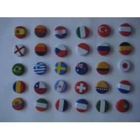 30 Fichas Ó Corcholatas Banderas Del Mundo De Coleccion
