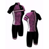 Camisa+bermuda Ciclista Black Mountain Flower - Tamanho G