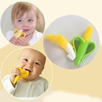 Baby Banana Ou Milho Mordedor Massageador E Escova De Dentes