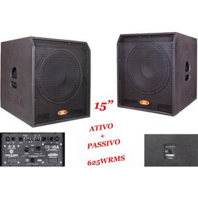 Caixa Subwoofer Ativa + Passiva Sub Grave 15 625 W Rms Sub15