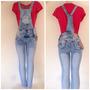 Macacão Pit Bull Jeans Comprido