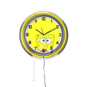 1a7b726282d Relógio De Parede Bob Esponja - Decoração Quarto Criança. R  1.590