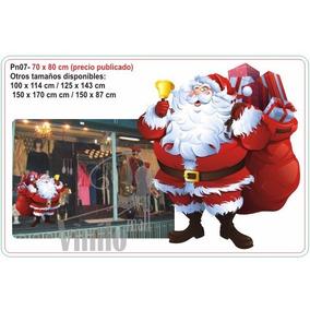 Vinilos Decorativos Navidad Vidrieras Ploter Arbol Papa Noel