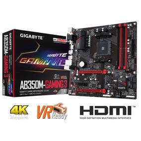 Motherboard Gigabyte Ab350m Gaming 3 Ryzen Ddr4 4k Hdmi
