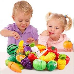 Horti Fruti Legumes E Fruta Comidinha De Brinquedo P/ Cortar