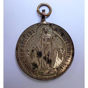 Antigua Medalla Religiosa Virgen Piedra Fundamental Año 1897