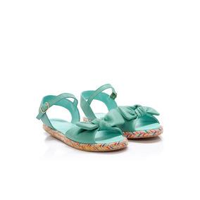 Sandalias Bajas De Mujer Sofi Martire Malibu Cuero Aqua